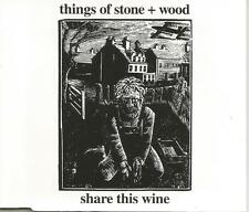 THINGS OF STONE & WOOD Share this Wine MIX and UNRELEASED CD single USA seller