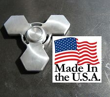 FIDGET spinner EDC aircraft ALUMINUM concave buttons NEW!!!!!!!! CNC in USA