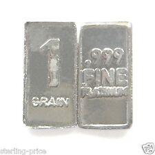 1 Troy Grain PLATINUM Bullion Bar Pure.999 Fine Platinum Mini Micro Bar W8P
