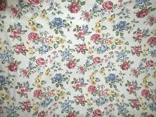 """cotton knit sewing fabric roses shabby cottage chic romantic BTY x 66"""" wide"""