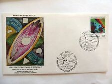 """April 21st, 1989 """"World Weather Watch"""" WFUNA Cache First Day Issue Lot #5"""