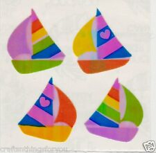 Sandylion Mother of Pearl/Opel  SAILING BOATS Scrapbooking Craft Stickers M19