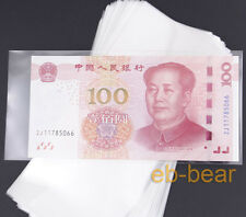 100 pcs 17.5cm*8.3cm  currency sleeves holders banknotes note paper money 4#