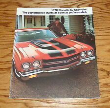 1970 Chevrolet Chevelle Sales Brochure 70 Chevy SS 396  Heavy chevy