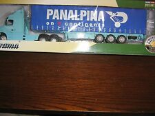 CARARAMA DIE CAST 1:50 SCALE  - VOLVO NH12 TRUCK & TRAILER - PANALPINA LIVERY