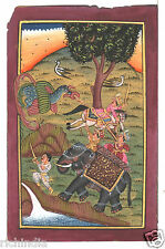 Old Postcard Antique Indian Royal King Miniature Painting  Art Gallery 9_AR17