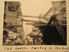 VINTAGE 1939 THE GHETTO NYC ORCHARD ST KAUFMAN'S HOSIERY LINGERIE SIGN ART PHOTO