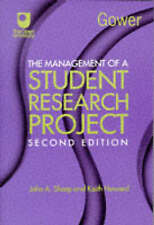 The Management of a Student Research Project [2nd Edition],GOOD Book