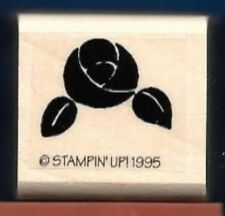 ROSE PATTERN Flower Rosette Ribbon NEW Stampin' Up! 1995 small Wood RUBBER STAMP