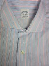"""BROOKS BROTHERS Non-Iron Striped Long Sleeve Shirt 16 1/2-35"""""""