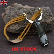 Powerful Alloy Handle Sling Outdoor Catapult  Steel Hunting Slingshot UK Stock