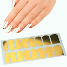 Metallic Gold Nail Nails Art Wraps Self Adhesive Stickers