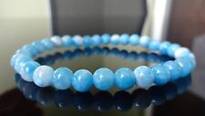 Blue Dominican LARIMAR Bead Bracelet for Men or Women (On Stretch) 6mm - 7.5""
