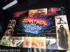 1982 STAR TREK MOVIE THE WRATH OF KHAN PIN-UP POSTER SPOCK KIRK & 17X11""
