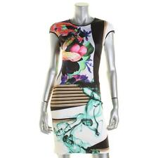 Clover Canyon 4213 Womens Multi Matte Jersey Printed Evening Dress XS BHFO