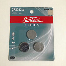 NEW SUNBEAM CR2032 LITHIUM 3V BATTERY 3 PACK MIGHTYCELL COIN BUTTON CELL
