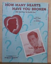 How Many Hearts Have You Broken - 1943 sheet music - Eddy Howard photo cover