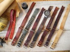 Handmade Supreme Vintage nato Leather Strap 20mm 105.012 105.003 145.022