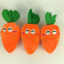 Dog Puppy Pet Supply Chew Play Squeaky Sound Plush Vegetable Chicken Carrot Toys