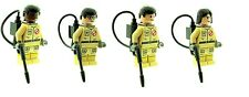 Custom Minifigure 4 Ghostbuster Evil Ghost Removers Printed on LEGO Parts