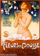 French Fleurs Perfume & Toiletry Label Advertisement Art Poster Print