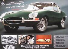 BUILD THE JAGUAR E-TYPE.REPLICA 1:8 SCALE KIT ISSUE NO 1.LEATHER SEATS,1961 1ST