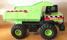 Mighty Tonka Dump Truck 1999 Classic Pressed Metal Steel Lime Green #768