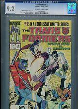 Transformers #2  (Optimus Prime)   CGC 9.2 OW-WP