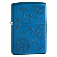 Zippo Windproof Cerulean Blue Nautical Lighter, Iced Cerulean, 29251, New In Box