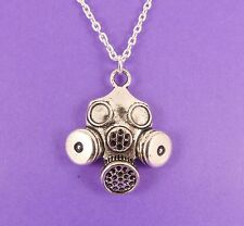 GAS MASK NECKLACE steampunk black ops cyber slipknot bio hazard punk dr who