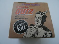 Sports Quiz Mini Card Party Game for Adults. 2+ players. JS Mini Quiz.New Sealed