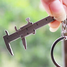 Cute 3D Movable Mini Vernier Caliper Ruler Key Ring Chain Keychain Keyring Tool