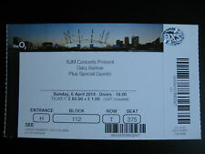 GARY BARLOW  O2 LONDON  06/04/2014 TICKET