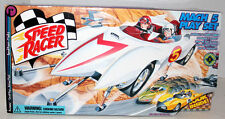 SPEED RACERS CAR  MACH 5 PLAYSET W/EXCLUSIVE SPRIDLE & CHIM CHIM FIGURES & ACC