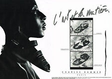 PUBLICITE ADVERTISING 054  1985  CHARLES KAMMER   chaussures sandales ( 2 pages)
