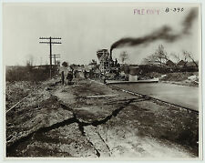 SUPER Set of 5 Photos - Road Construction Machines - Scottsburg IN Indiana 1923