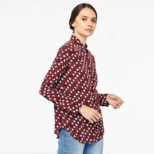 Sandro Star Print Shirt Blouse Brand Latest Collection 2017 NEW! RRP £239 Size 1