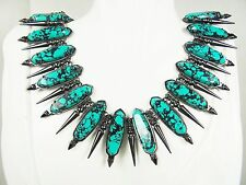 KENDRA SCOTT Stunning Gwendolyn Statement Necklace in Teal Variegated Magnesite