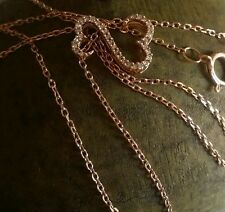 $279 Kay Jewelers diamond open heart 10k rose gold necklace by Jane Seymour