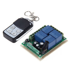 4CH Wireless Remote Control Switch with Receiver Board 315MHZ 50m DC 12V