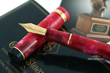 Conway Stewart Cherry Red Duro Fountain Pen - F Nib