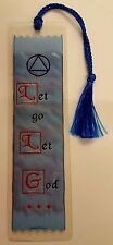 Beautiful Woven 'Let Go & Let God' Bookmark  AA verse NEW