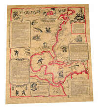 TREASURE MAP IN A BOTTLE Jigsaw Puzze 200 pc with Treasure Map by Channel Craft