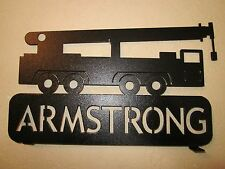 CUSTOM CRANE (YOUR NAME) MAILBOX TOPPER TEXTURED BLACK POWDER COAT FINISH