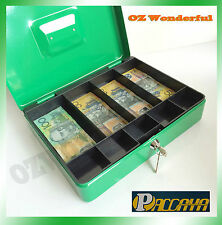 1x Paccaya Lockable cash box Petty cash money box safe 2 keys L