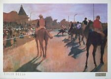 Race Horses before the Stands - Edgar Degas print - 51cmx71cms, vintage poster