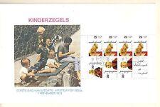 E122a blok kinderzegels 1972 op grootformaat fdc (gekleurde afbeelding)