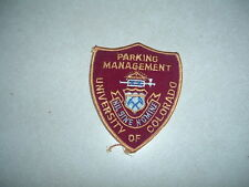 PATCH SECURITY PARKING MANAGEMENT UNIVERSITY OF COLORADO OLDER 4  INCHES
