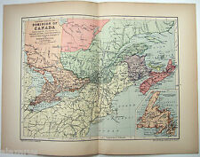 Original 1894 Map of Eastern Part of the Dominion of Canada by  W & A.K Johnston