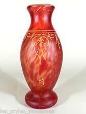LEGRAS Jugendstil Glas ° Glasvase Emailmalerei ° france art nouveau art glass